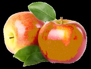 deux pommes retravaillées sur photoshop pour donner un effet