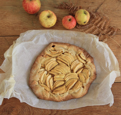 recette d'automne de tarte aux pommes très facile sans moule