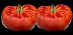 deux tomates bien rouges retravaillées sur photoshop pour donner un effet